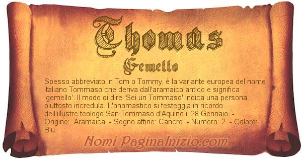 Nome Thomas
