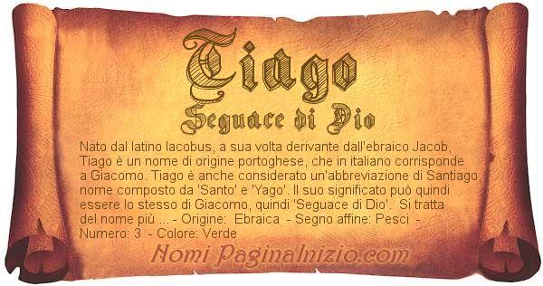 Nome Tiago