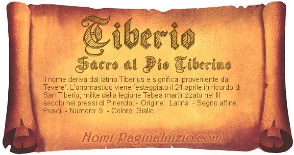 Nome Tiberio
