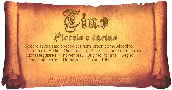 Nome Tino