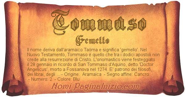 Nome Tommaso