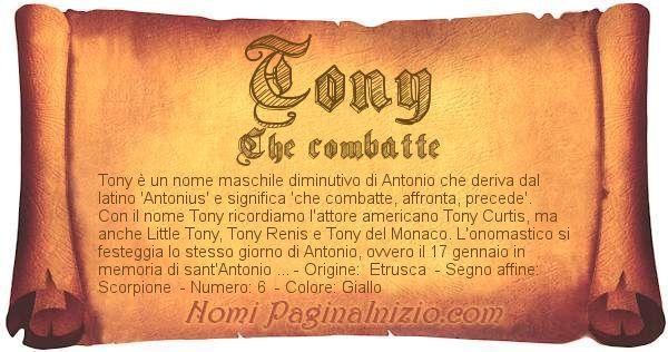 Nome Tony