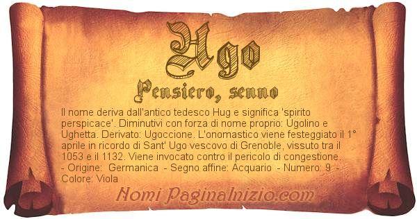 Nome Ugo