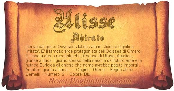 Nome Ulisse