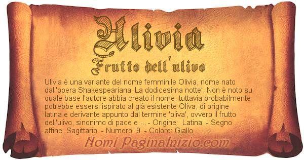 Nome Ulivia