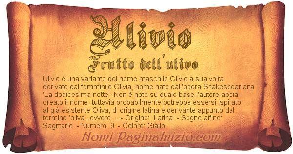 Nome Ulivio