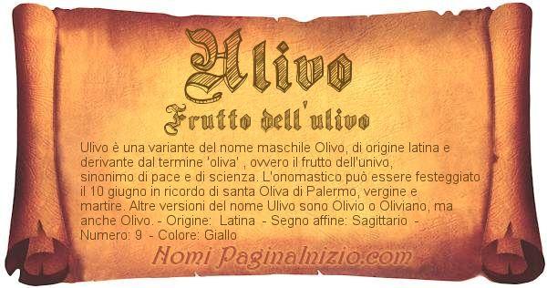Nome Ulivo