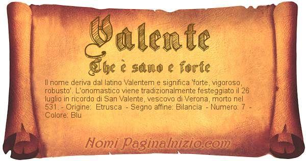 Nome Valente