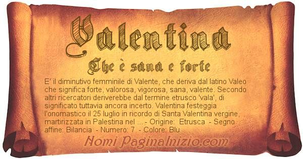 Nome Valentina
