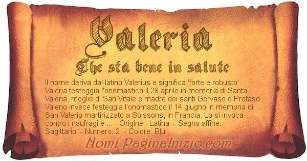 Nome Valeria