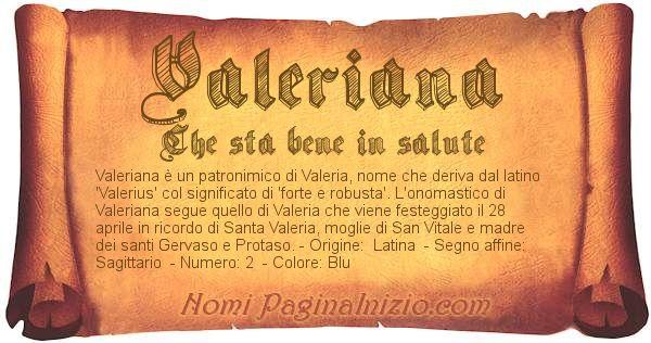 Nome Valeriana