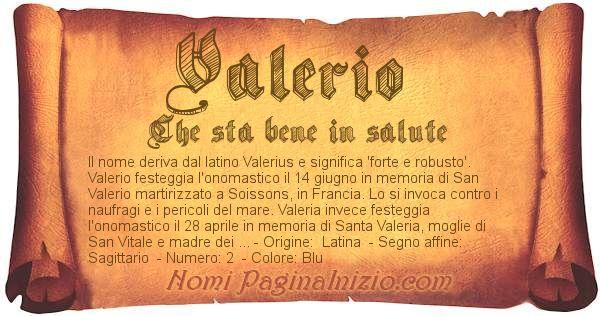 Nome Valerio
