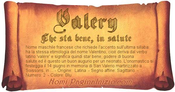 Nome Valery