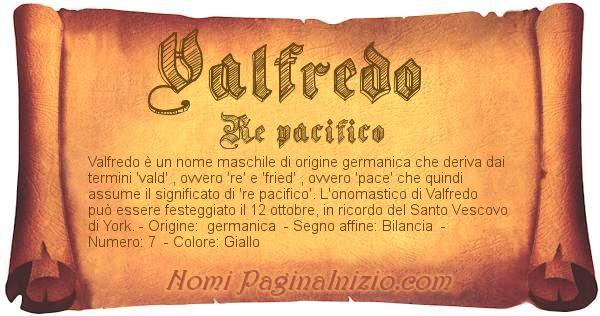 Nome Valfredo