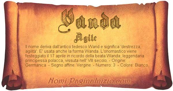 Nome Vanda