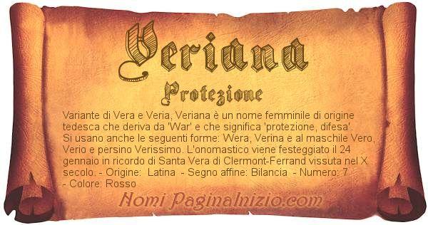 Nome Veriana