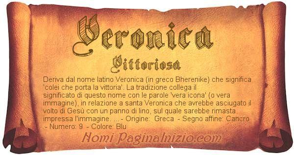 Nome Veronica