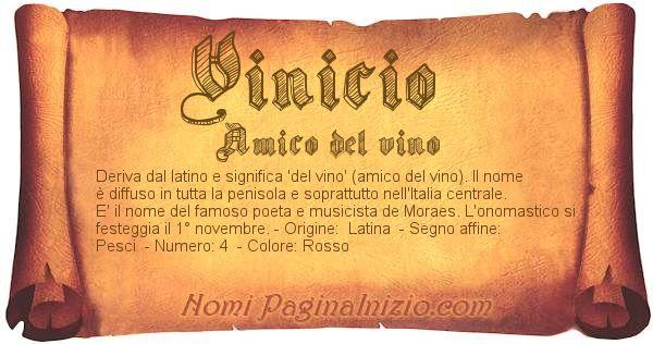 Nome Vinicio