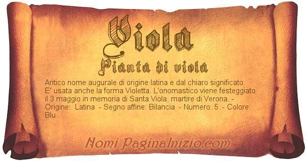 Nome Viola
