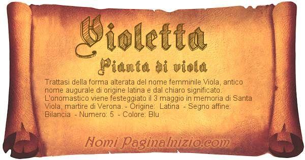 Nome Violetta