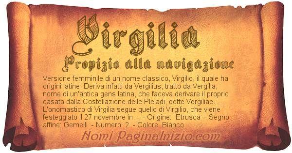 Nome Virgilia