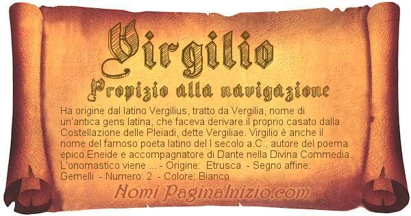 Nome Virgilio