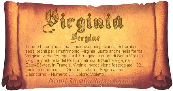 Pergamena col nome https://www.paginainizio.com/nomi/imgnomi/virginia.jpg