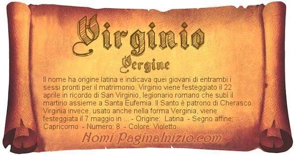 Nome Virginio