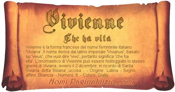 Nome Vivienne