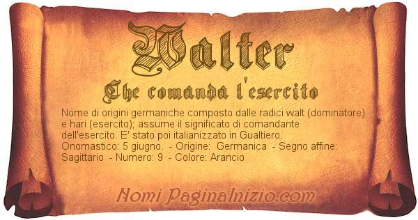 Nome Walter