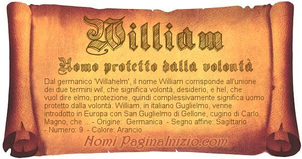 Nome William