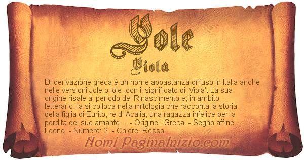Nome Yole