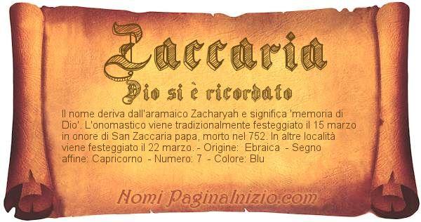 Nome Zaccaria