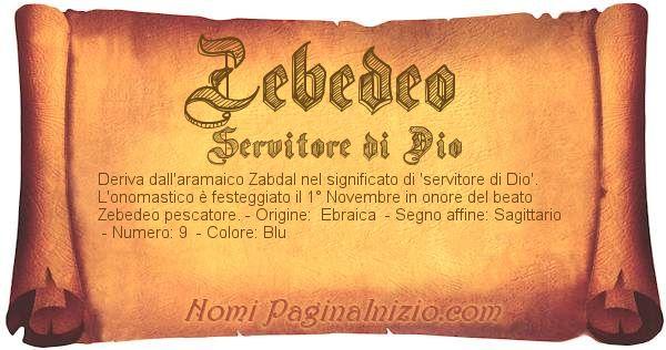Nome Zebedeo