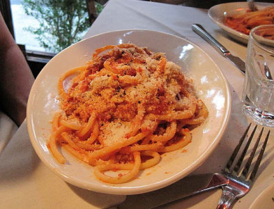 Amatriciana di bucatini