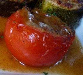 Antipasto di Pomodori alla Crema di Melanzane