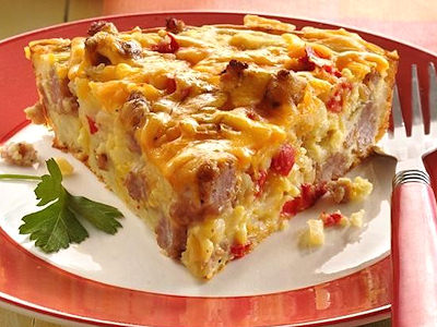 Torta salata con speck e zucchine