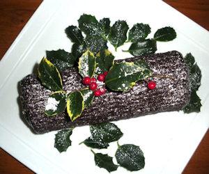 Tronchetto di Natale con pan biscotto
