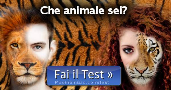 test che animale sei