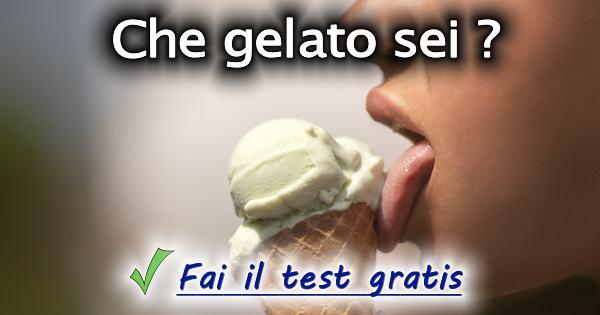 Test che gelato sei for Test quale animale sei