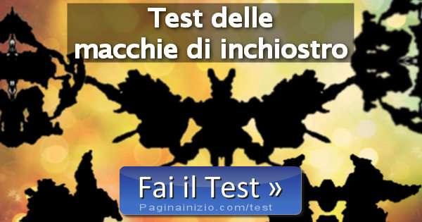 Test delle macchie di inchiostro - Test tavole di rorschach ...
