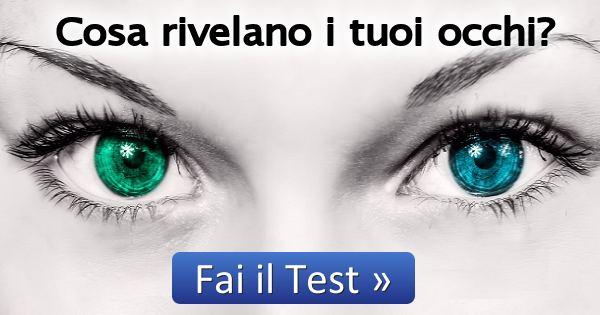 Test cosa rivelano i tuoi occhi for Test quale animale sei